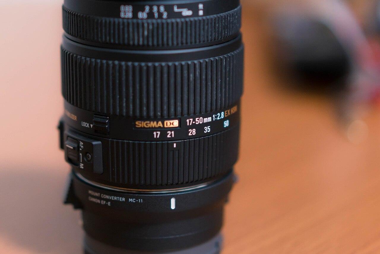 sigma-17-50mmのレンズ