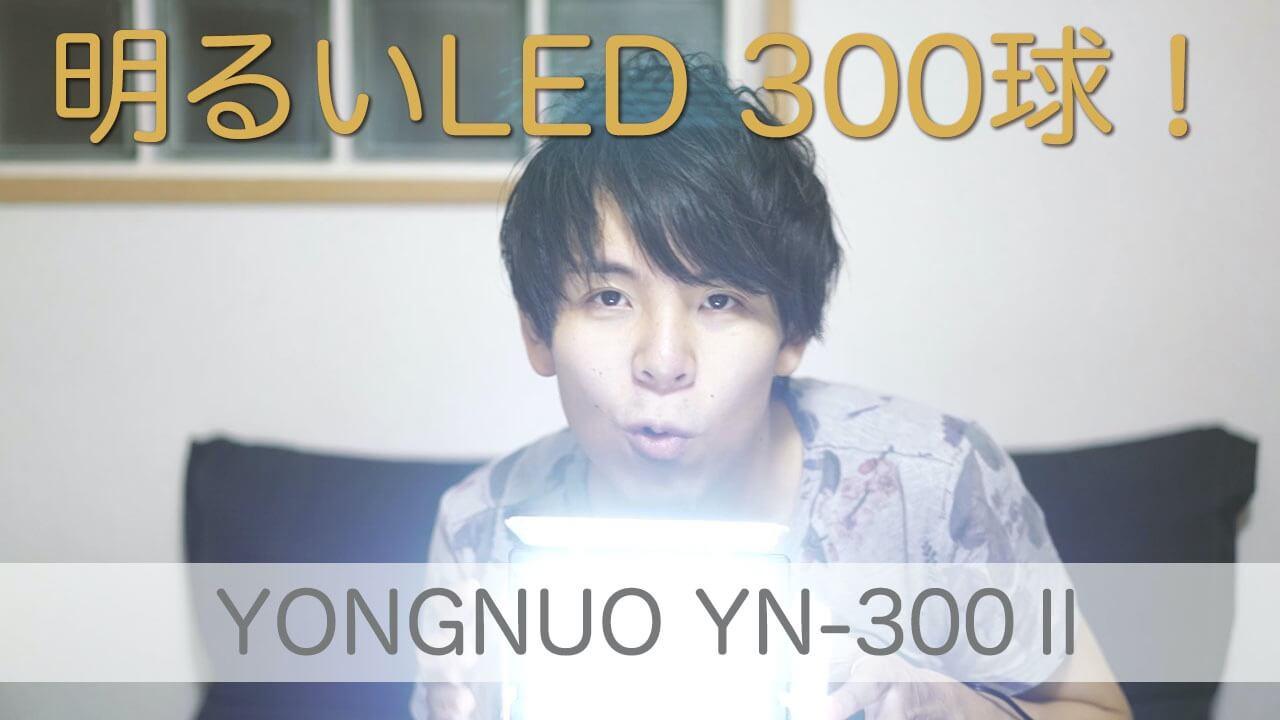 【レビュー】YonguoのビデオライトYN300Ⅱを動画撮影のために購入したぜ!