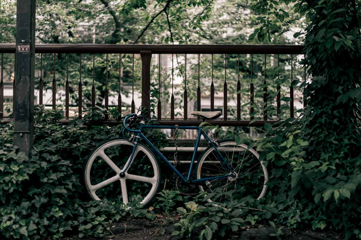 スナップで撮影したロードバイク