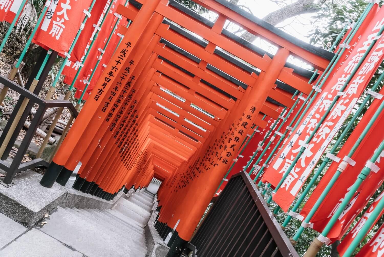日枝神社の稲荷参道