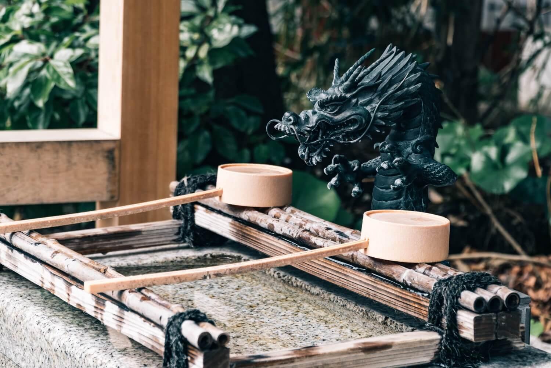 日枝神社 末社の手水舎