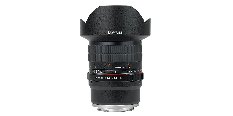 Samyangの広角単焦点レンズ 14mm F2.8