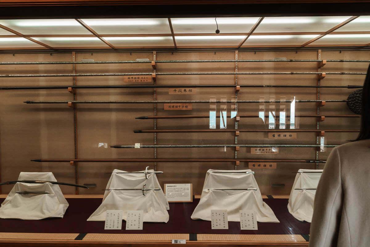 松山城ゆかりの展示物