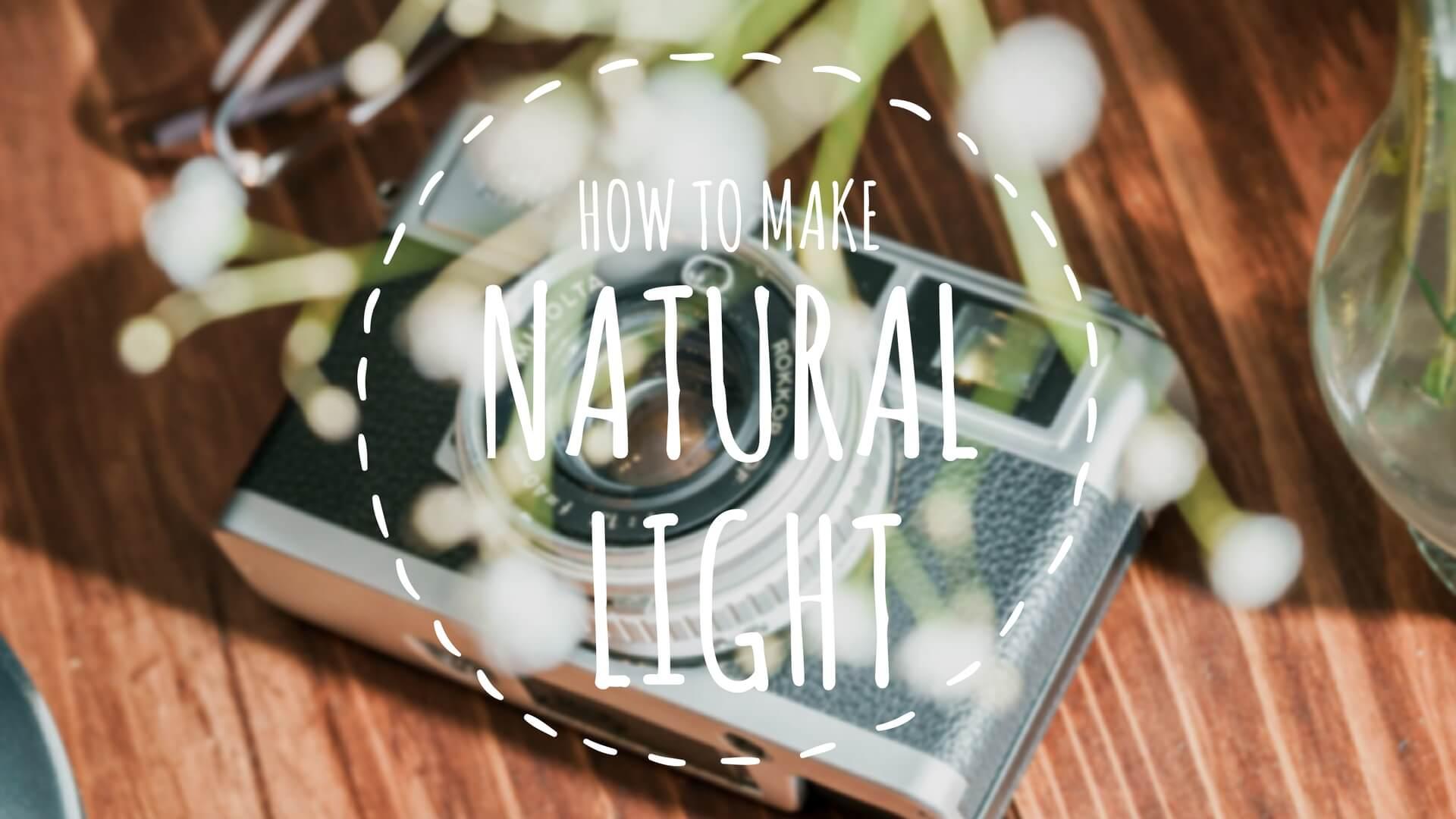 室内の物撮りでもストロボを使って自然光みたいな光を再現してみる。