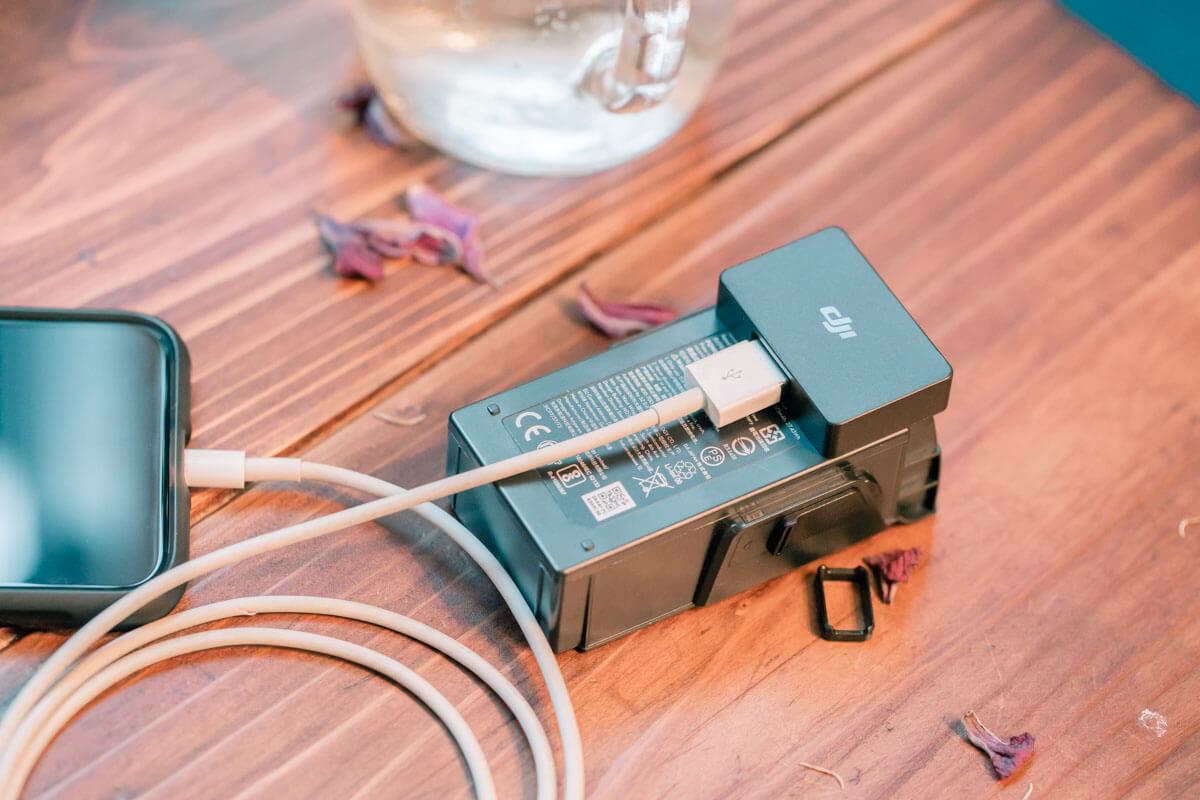 バッテリーパワーバンクアダプター