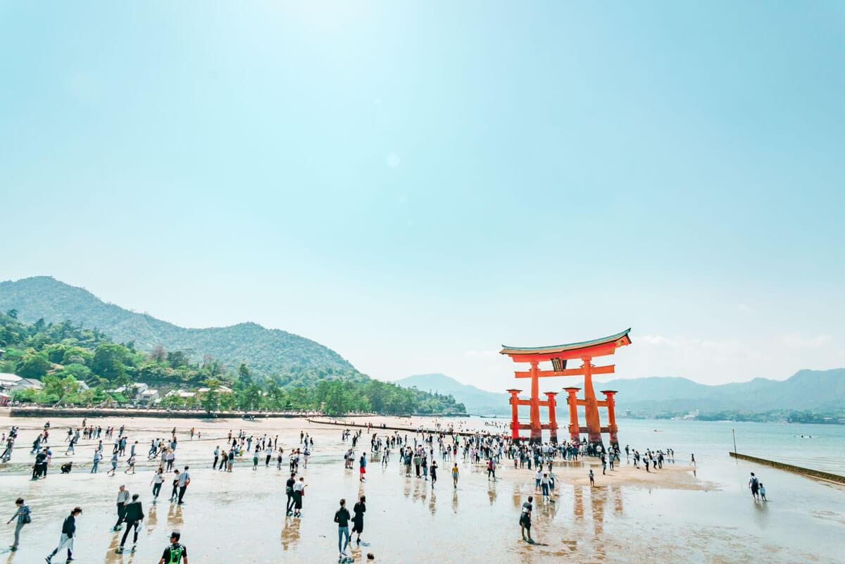 厳島神社で超広角レンズをためしてみました
