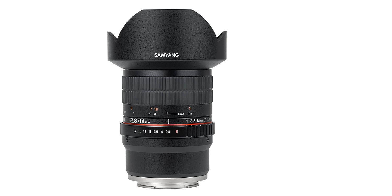 Samyangの14mmF2.8の広角レンズ