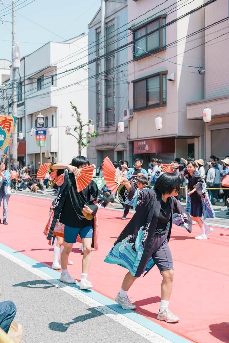 尾道の祭りの様子
