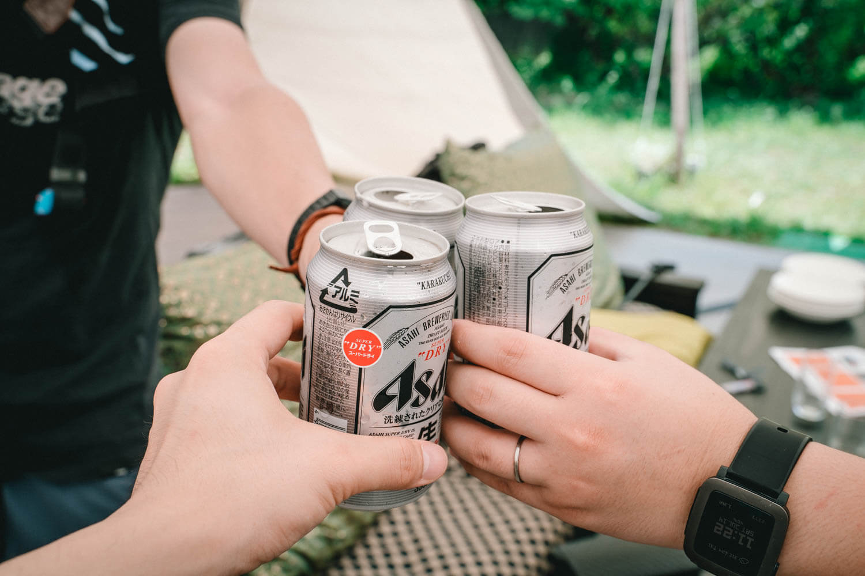 暑い夏のビールが最高