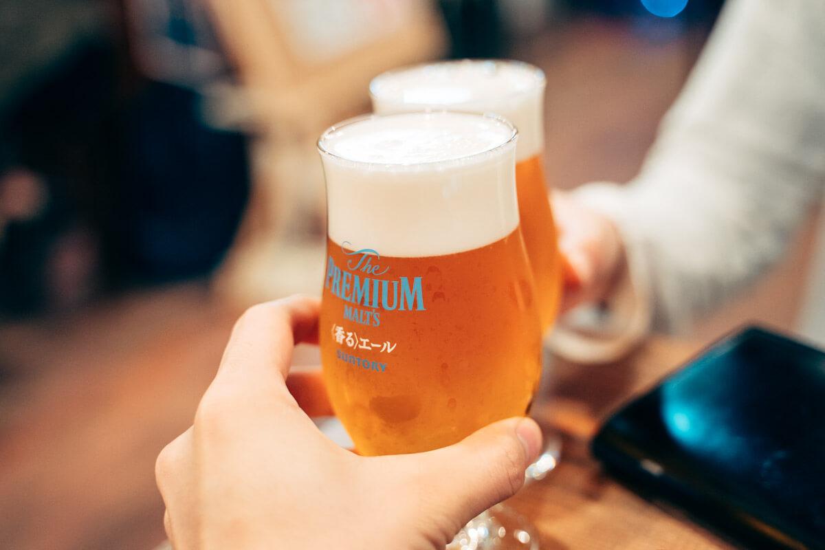 先ずはビール
