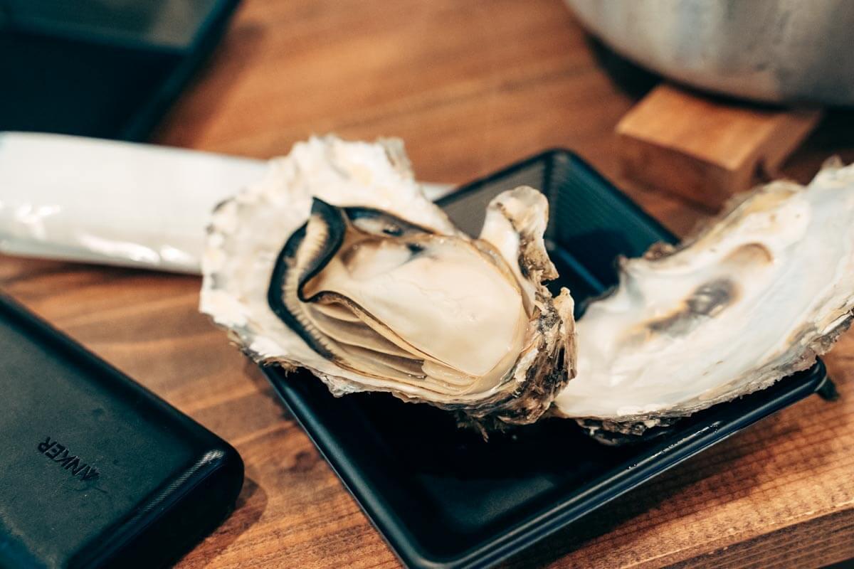 牡蠣バケツの牡蠣