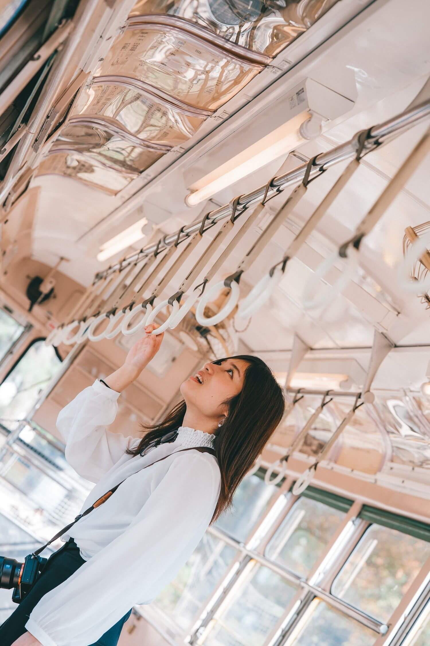 小金井公園の電車内で撮ることさん