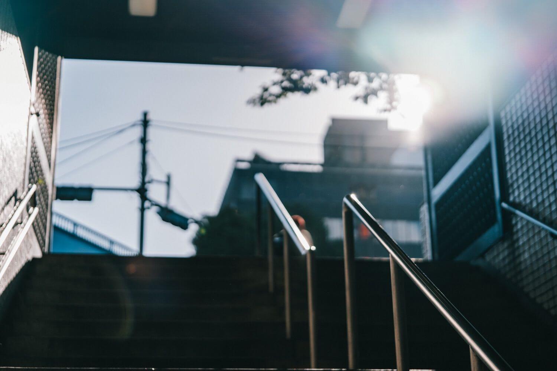 朝、電車から抜けた時の写真