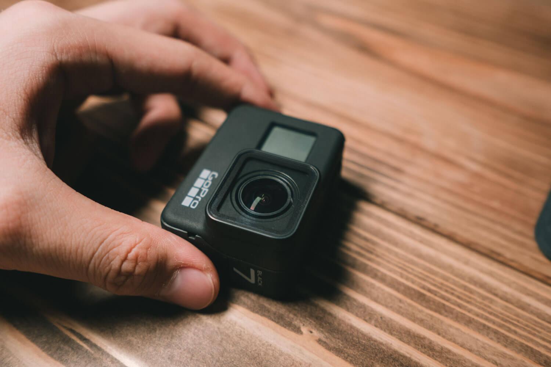 GoProを寄りで撮影