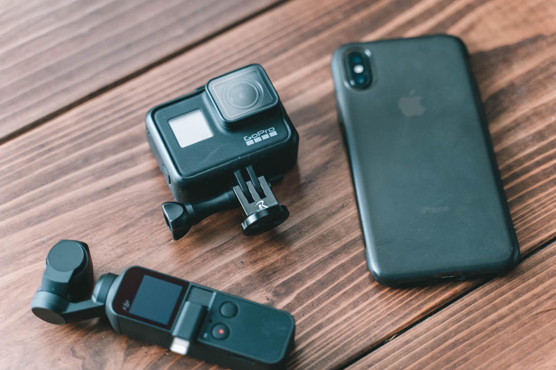 GoPro・Osmo Pocket・iPhoneの写真