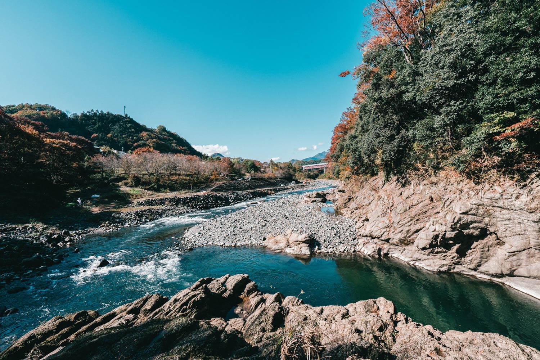山梨で撮影した川の写真