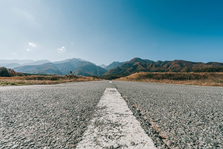 山梨で撮影した道路の写真