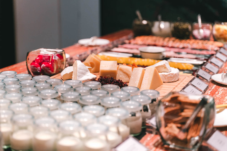 マンダリンオリエンタル台北の朝食チーズメニュー