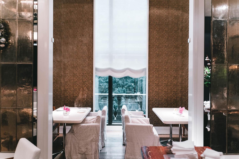 マンダリンオリエンタル台北の朝食会場の個室