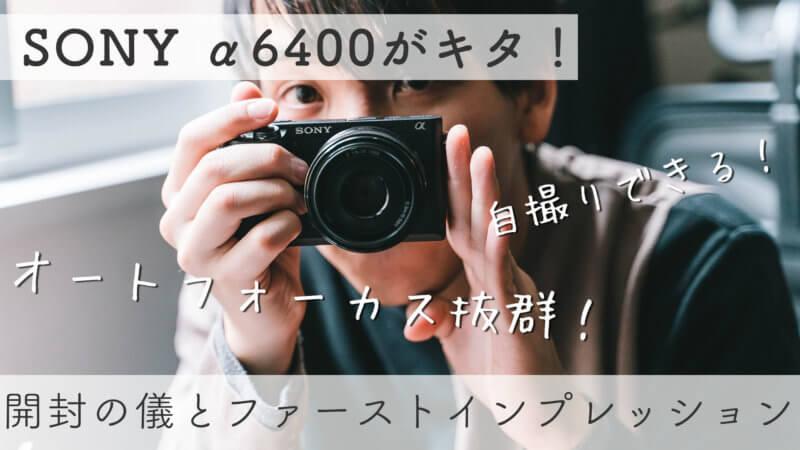 α6400のレビュー記事のメイン画像